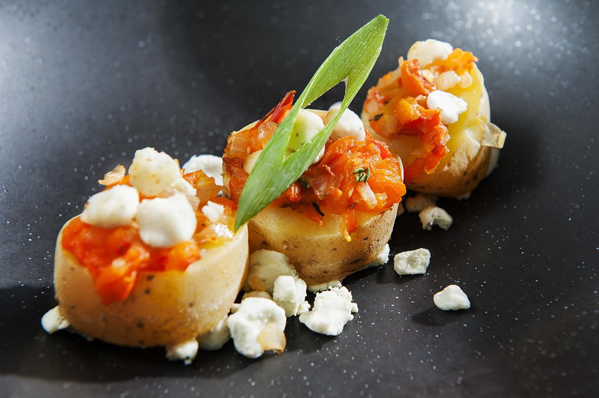 Aardappelsnoepje met korrelkaas, zoete gegrilde paprika en tijm_1_web